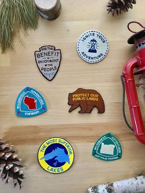 Cute Elephant Embroidered Patch Iron-On Souvenir Travel Nature National Parks