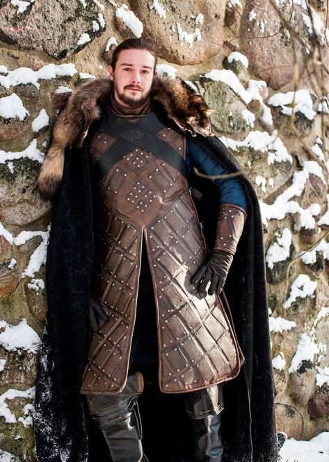 Jon Snow Game of Thrones Season 6 King in the North Cosplay Costume – Volto Nero Costumes