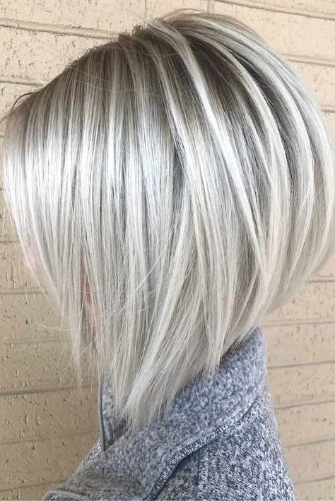 Angled Bob Hairstyles, Bob Hairstyles For Fine Hair, Hairstyles Haircuts, Short Haircuts, Wedding Hairstyles, Celebrity Hairstyles, Hairstyles Videos, Winter Hairstyles, Layered Haircuts