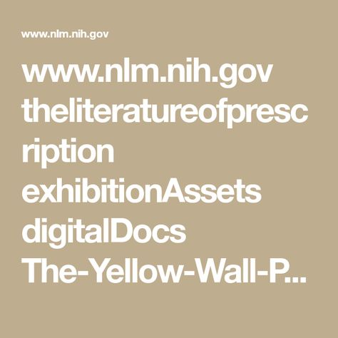 Wwwnlmnihgov Theliteratureofprescription Exhibitionassets