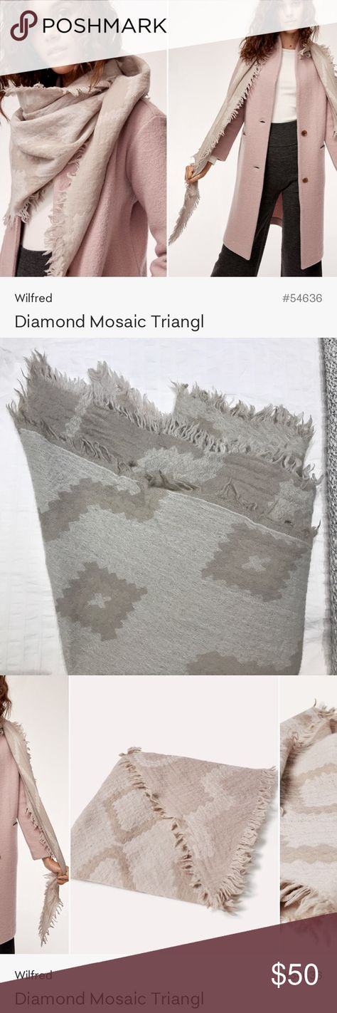aac9967f0cc91 Aritzia Diamond Mosaic Triangl Scarf Excellent used condition. Only worn a  couple times. Aritzia
