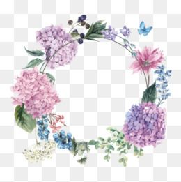 Watercolor Flowers Vector Blueberry Flowers Png Transparent