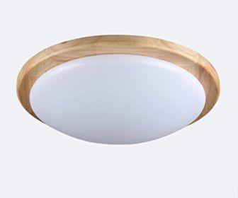 Deckenlampe Schlafzimmer Wohnzimmer Runde Led Massivholz