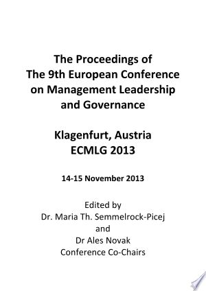 Ecmlg2013 Proceedings For The 9th European Conference On