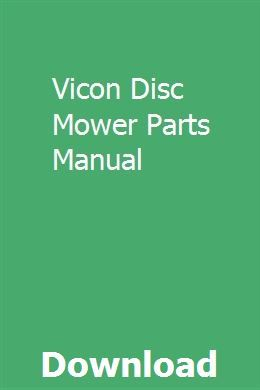 Vicon Disc Mower Parts Manual pdf download online full