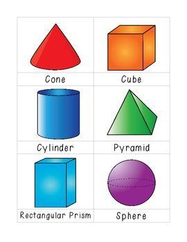 2d 3d Shape Flashcards Shapes Kindergarten Shapes Flashcards Shapes Lessons