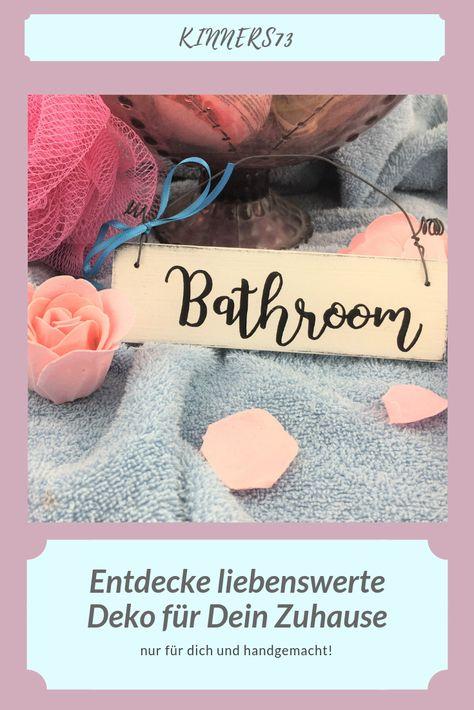 Wooden Sign Door Sign Bathroom Toilet Bath Vintage Handmade Door Home Hanging Decoration Decor White Gift Holzschilder Turschilder Und Toilettenschilder