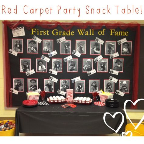 Red Carpet Party Snack Table http://firstgradeteacherlady.blogspot.com/