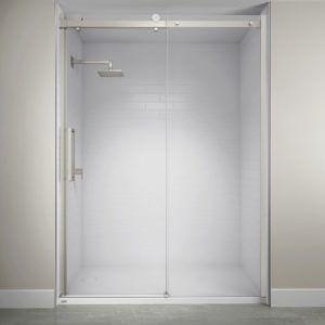 Jacuzzi Exposed Roller Shower Door Sliding Shower Door Shower