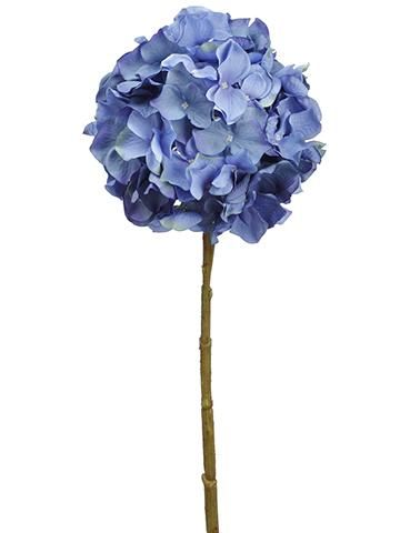 Blue Hydrangea Silk Flower 6 5 Bloom Silk Flowers Wedding Artificial Flowers Wedding Silk Flowers