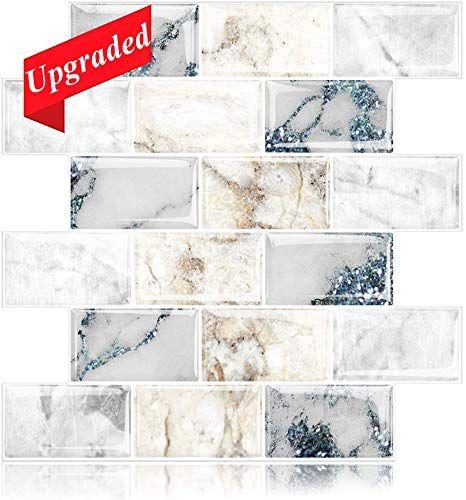 Buy Homeymosaic 12 X12 Subway Marble Peel Stick Backsplash Tile 3d Wall Vinyl Tiles Home Decor Stick Kitchen Bathroom Back Splashes 5 Sheet Upgraded Thicker In 2020 Stick On Tiles Kitchen Wall Stickers Tile