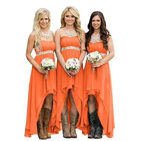 Cocktail Party Beach Special Occasion Date Night Orange Convertible Dress...Bridesmaids Vacation Prom
