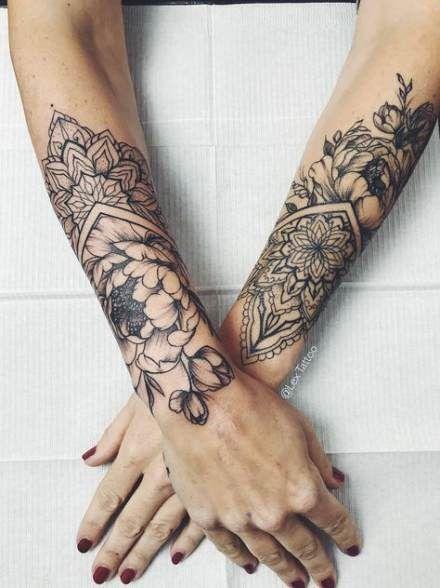 Tattoo Flower Sleeve Mandalas Henna Designs 27 Ideas