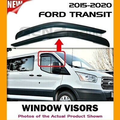 WINDOW VISORS. - Quantity: set of 2 for left and right windows. - Install: 3M auto grade 2-sided tape. - Style : Out-channel/tape-on. - Finish: Dark tinted. - Thickness: 3 mm. - Material: Acrylic.