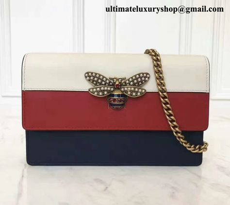 3a4b32ccf85521 Authentic Quality Perfect 1:1 Mirror Replica Gucci Queen Margaret Blue /  Red Leather Mini Bag   World's Best Authentic Quality Perfect 1:1 Mirror  Replica ...