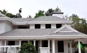 Homes With Light Gray Tile Roofs Google Search Flat Roof Extension Roofing Exterior House Color