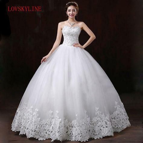 Spring 2017 new Korean Slim trailing wedding bride simple wedding dressFashion slim brief bride tube top plus size wedding dress