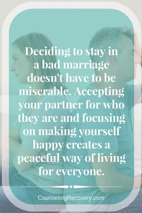 How to Survive in an Unhappy Marriage and Thrive