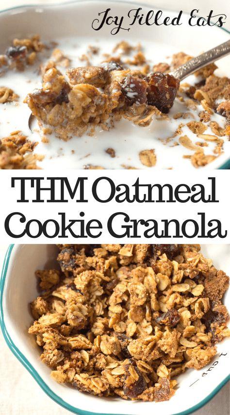 Trim Healthy Mama Diet, Trim Healthy Recipes, Thm Recipes, Cereal Recipes, Healthy Foods, Recipies, Dinner Recipes, Low Calorie Granola, Sugar Free Granola