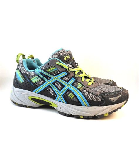 c9916c9867a9 Asics Gel-Venture 5 Women s Shoes Silver Grey Turquoise Lime T5N8N Size US  8.5  Asics  Running