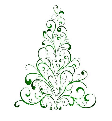 Free Swirly Christmas Tree Svg File Yahoo Image Search Results Christmas Tree Clipart Christmas Clipart Cool Christmas Trees