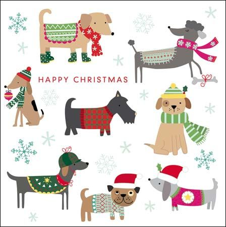 Festive dogs charity #Christmas card in aid of the Samaritans