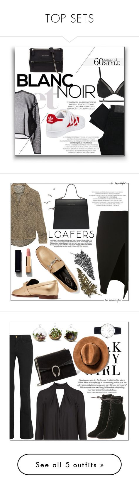 """""""TOP SETS"""" by alinnas ❤ liked on Polyvore featuring Topshop, Cheap Monday, Yves Saint Laurent, adidas, Givenchy, gameday, David Koma, Mes Demoiselles..., Tod's and Industrie"""