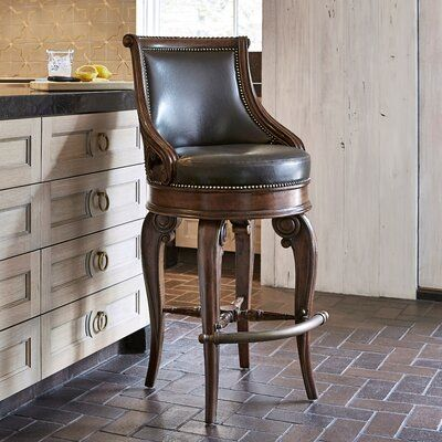 Ambella Home Collection Tatum Swivel Bar Counter Stool Seat