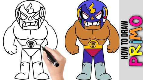 How To Draw Primo From Brawl Stars Cute Easy Drawings Tutorial