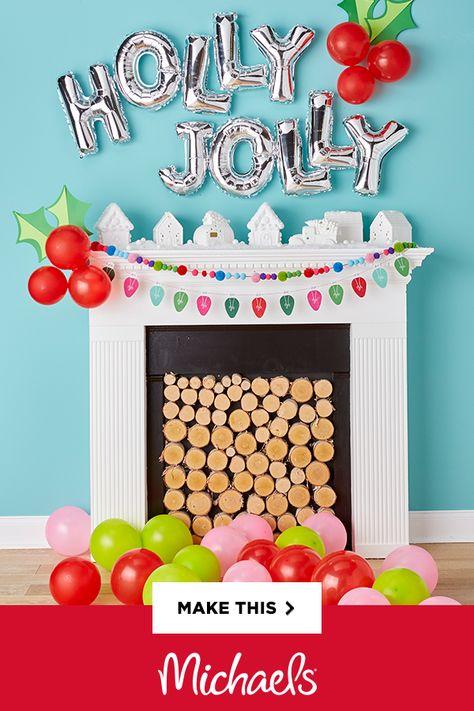 Christmas décor guide: balloon holly wall décor