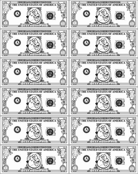 Money Coloring Pages Printable In 2020 Printable Play Money