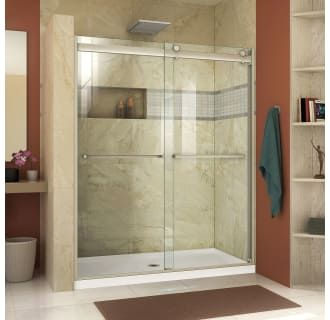 Dreamline Shdr 636076h 04 Brushed Nickel Essence H 56 60 W X 76 H Semi Frameless Bypass Shower Door With Clear Glass Faucet Com Shower Doors Frameless Sliding Shower Doors Sliding Shower Door