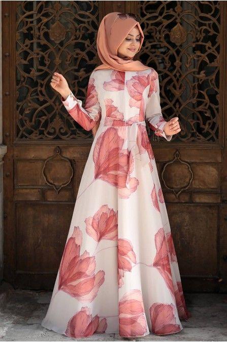 Pinar Sems Ozel Gun Tesettur Elbise Kombinleri Moda Tesettur Giyim Elbise Modelleri Elbise Moda Stilleri