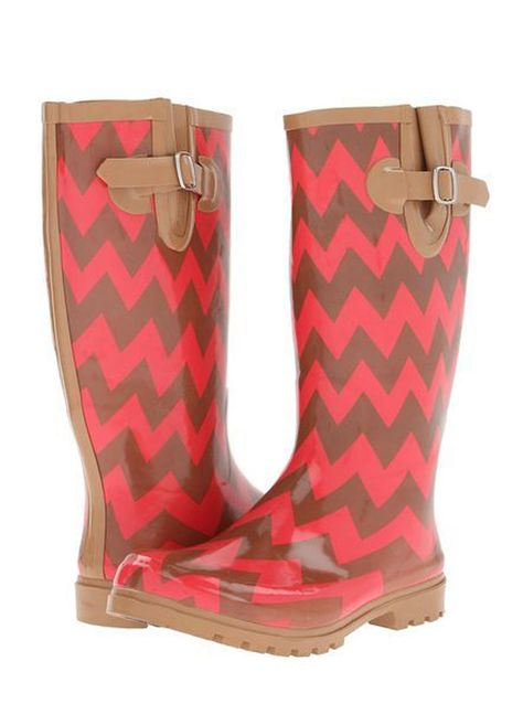 Chevron camel and coral pink