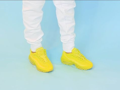 66528e2fc3 Nike Air Max 95 High Voltage/Sonic Yellow. From Tootsie Time YouTube  channel, linked below!