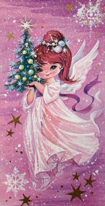 Épinglé par TES G sur Иллюстрации. Рождество и Новый год. | Anges