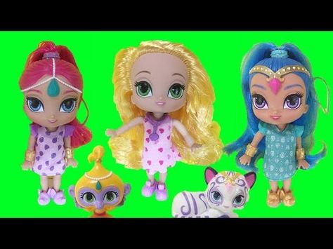 647b9598df1 Shimmer and Shine Genie Sleepover Party Outfit Change Fisher Price  Nickelodeon Toy - YouTube