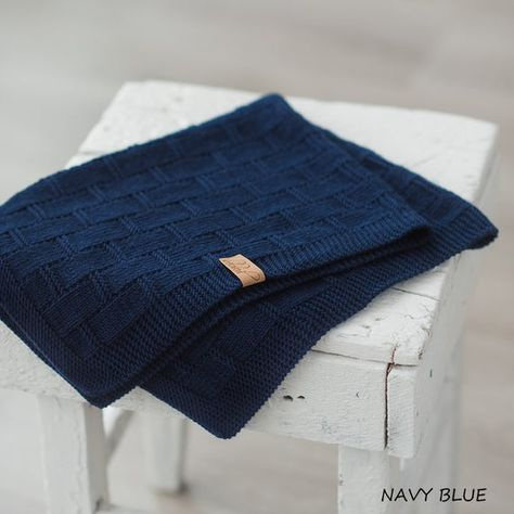 This hand knitted baby blanket made of 100% merino wool is perfect for a soft and snuggle sleep for precious baby. Hand knit baby blanket is amazingly soft, stretchy and will surely wrap baby, child or even adult in warmth and love. It makes a beautiful handmade wrap for newborn photos, special