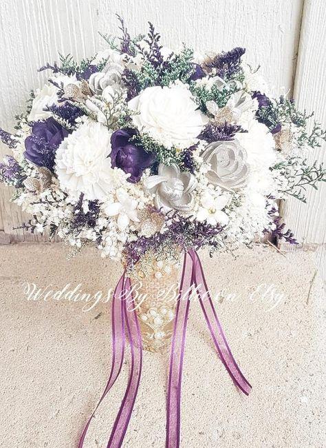 Plum Champagne Sola Flower Bouquet, Burlap Lace, Alternative Bouquet, Bridal Accessories, Keepsake Bouquet, Wedding Bouquet, Sola Flowers  #WeddingFlowers #FallBouquet #PlumBouquet #PurpleSolaBouquet #KeepsakeBouquets #SolaBouquet #PlumLavenderWed #PurpleGoldWedding #ChampagnePlumWed #PlumChampagneWed