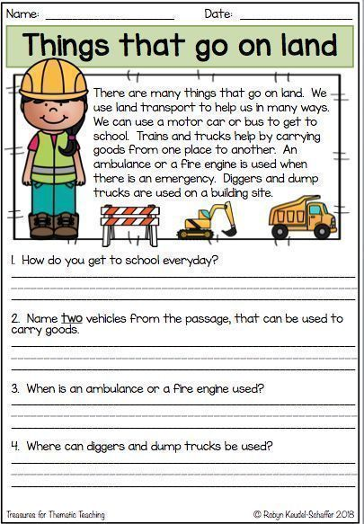 This Resource Can Be Used As A Booklet Or Individual Worksheets. E… Reading  Comprehension Worksheets, Reading Comprehension Lessons, Reading  Comprehension Skills