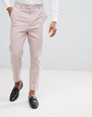 Mens Tapered Suit Pants
