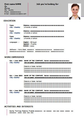 Free Resume Templates Word Free Resume Template Word Teacher Resume Template Free Printable Resume Templates