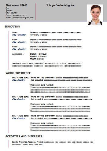 Free Resume Templates Word Free Resume Templates Cv