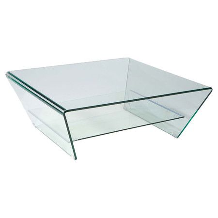 Complete A Modern Seating Group With This Clear Glass Coffee Table