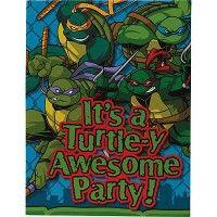 Teenage Mutant Ninja Turtles Invitations from www.HardToFindPartySupplies.com