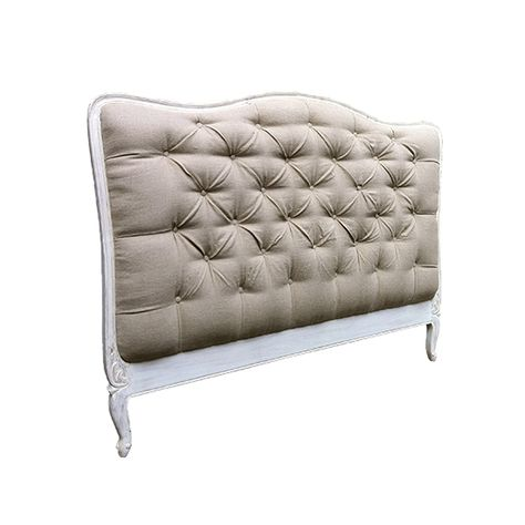 The French Room, wooden cream and beige headboard