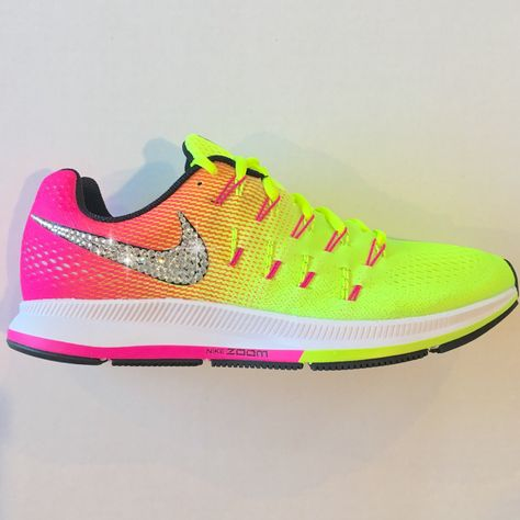 aef6491a84093 CLEARANCE! Bling Nike Shoes with Swarovski Crystals   Nike Air Zoom ...