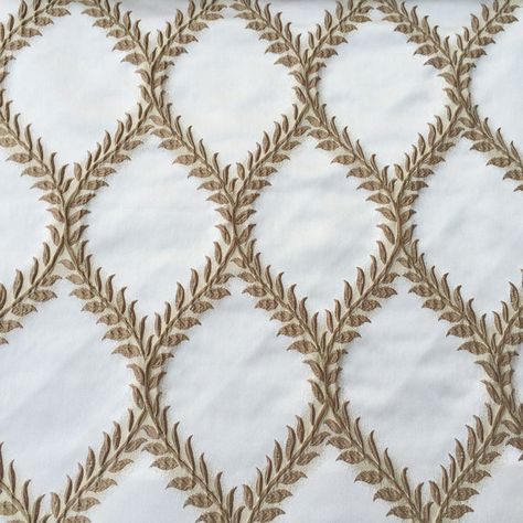 Brown Ivory Frames Fabric By The Yard Curtain Fabric Upholstery