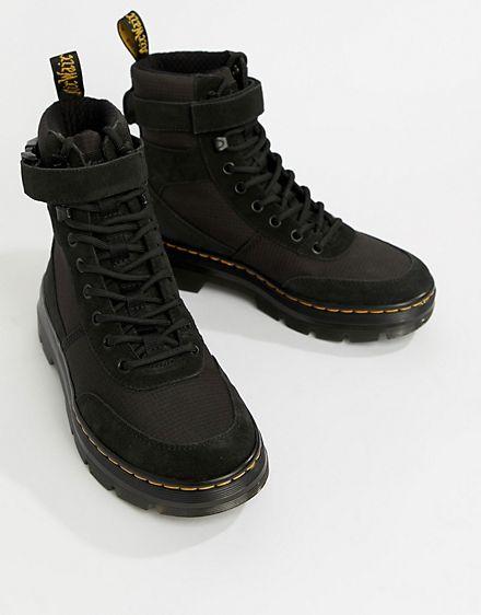 Dr.Martens Combs Textile Combat Ankle Kids Boots