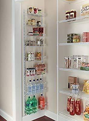 Amazon Com G R Gracelove Over The Door Spice Rack Wall Mount Pantry Kitchen 8 Tier Cabinet Organizer Kitchen Kitchen Pantry Storage Pantry Shelving Door Rack